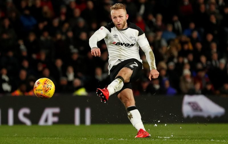 Confirmed: Derby County forward Johnny Russell set to Major League Soccer switch